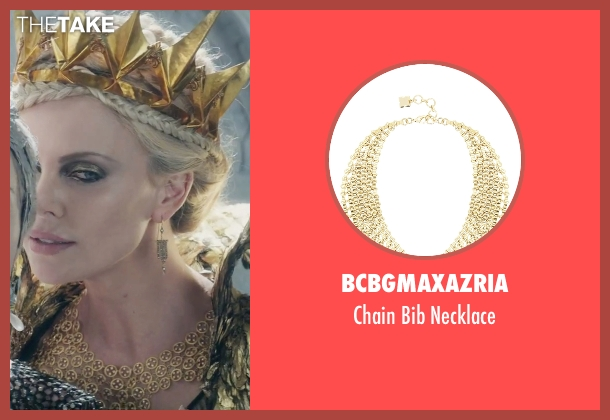 BCBGmaxazria gold necklace from The Huntsman: Winter's War seen with Charlize Theron (Ravenna)