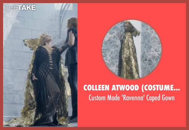 Colleen Atwood (Costume Designer) gown from The Huntsman: Winter's War seen with Charlize Theron (Ravenna)