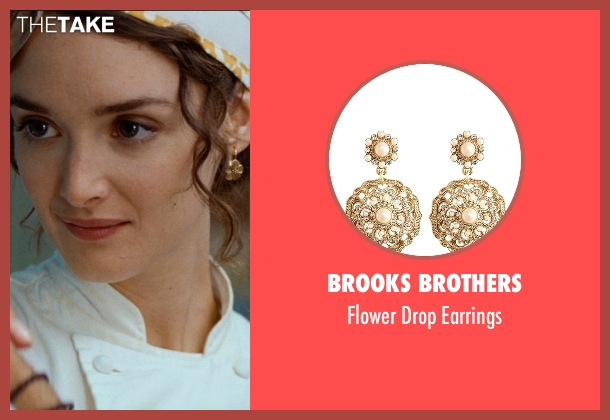 Brooks Brothers gold earrings from The Hundred-Foot Journey seen with Charlotte Le Bon (Marguerite)