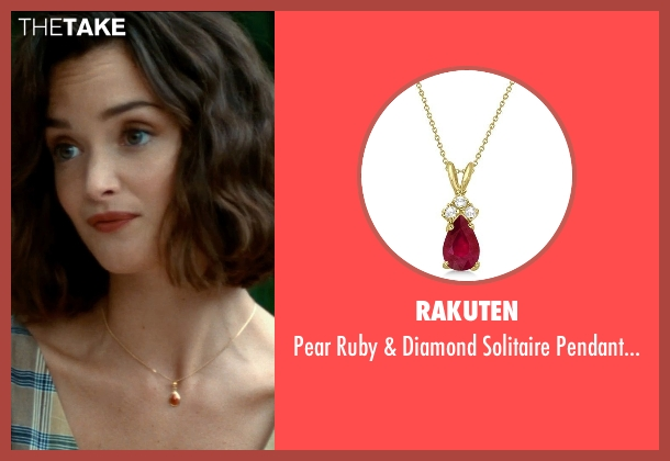Rakuten gold necklace from The Hundred-Foot Journey seen with Charlotte Le Bon (Marguerite)
