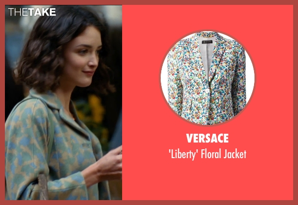 Versace jacket from The Hundred-Foot Journey seen with Charlotte Le Bon (Marguerite)