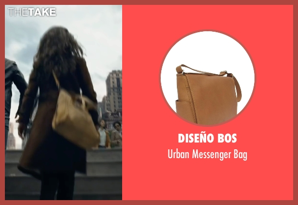 Diseño Bos beige bag from The Walk seen with Charlotte Le Bon (Annie Allix)