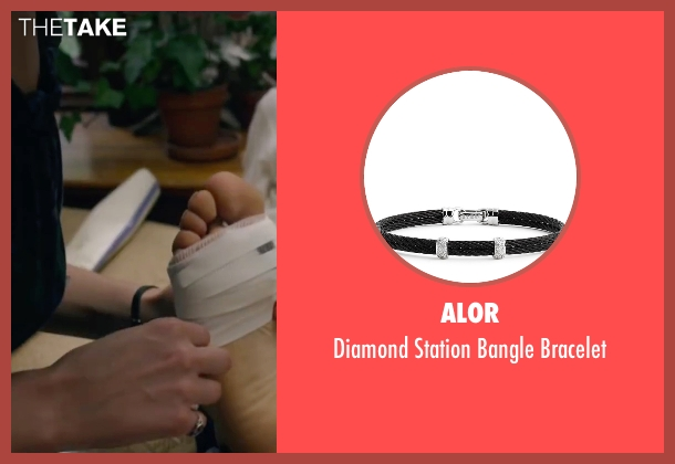Alor black bracelet from The Walk seen with Charlotte Le Bon (Annie Allix)