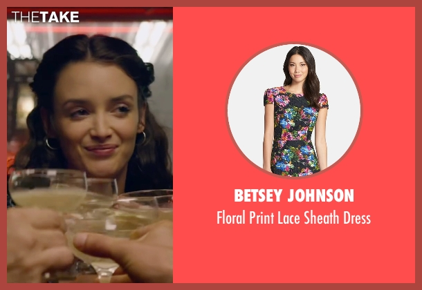 Betsey Johnson black dress from The Walk seen with Charlotte Le Bon (Annie Allix)