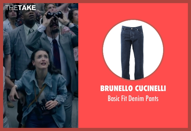 Brunello Cucinelli blue pants from The Walk seen with Charlotte Le Bon (Annie Allix)