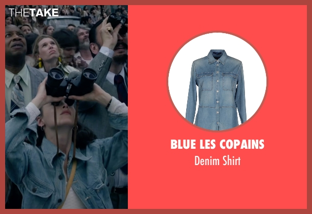 Blue Les Copains blue shirt from The Walk seen with Charlotte Le Bon (Annie Allix)
