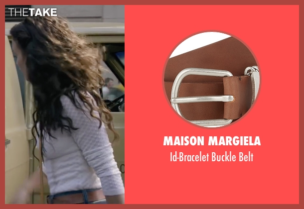 Maison Margiela brown belt from The Walk seen with Charlotte Le Bon (Annie Allix)