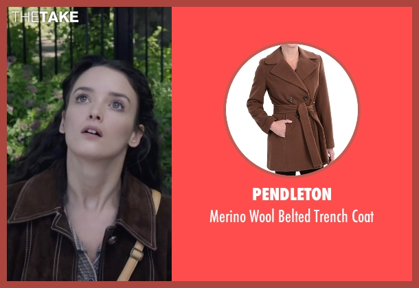 Pendleton brown coat from The Walk seen with Charlotte Le Bon (Annie Allix)
