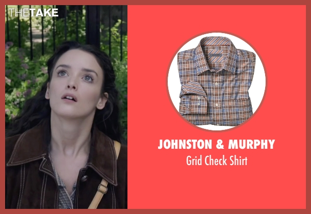 Johnston & Murphy brown shirt from The Walk seen with Charlotte Le Bon (Annie Allix)