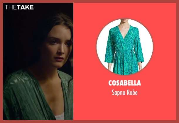 Cosabella green robe from The Walk seen with Charlotte Le Bon (Annie Allix)