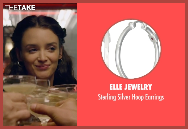 Elle Jewelry silver earrings from The Walk seen with Charlotte Le Bon (Annie Allix)