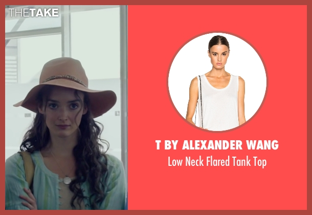 T By Alexander Wang white top from The Walk seen with Charlotte Le Bon (Annie Allix)