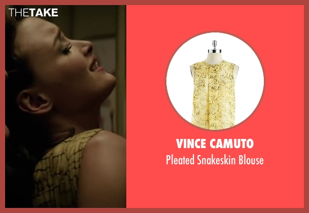 Vince Camuto beige blouse from Yves Saint Laurent seen with Charlotte Le Bon (Victoire Doutreleau)