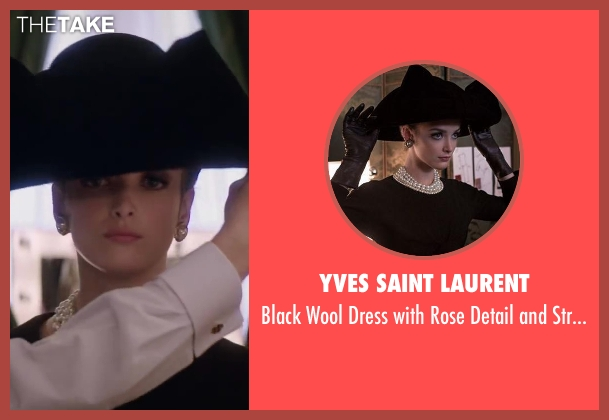 Yves Saint Laurent black 1962 from Yves Saint Laurent seen with Charlotte Le Bon (Victoire Doutreleau)