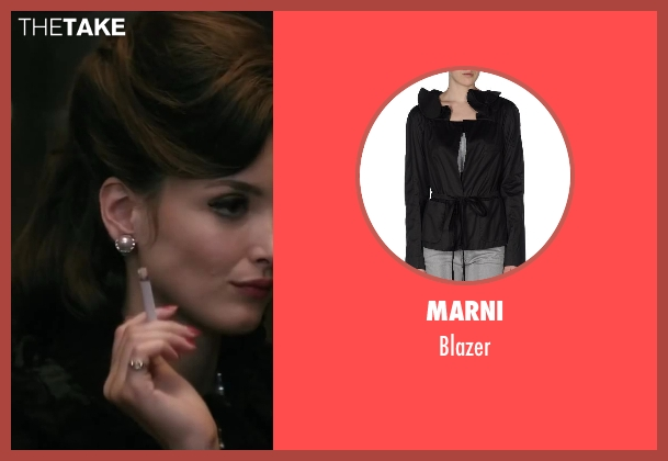MARNI black blazer from Yves Saint Laurent seen with Charlotte Le Bon (Victoire Doutreleau)