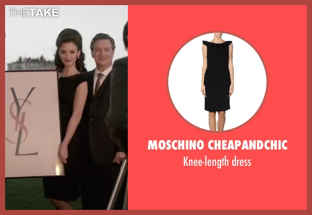 MOSCHINO CHEAPANDCHIC black dress from Yves Saint Laurent seen with Charlotte Le Bon (Victoire Doutreleau)
