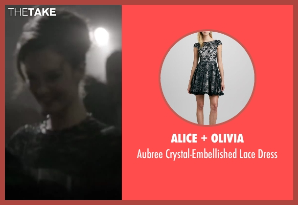 Alice + Olivia black dress from Yves Saint Laurent seen with Charlotte Le Bon (Victoire Doutreleau)