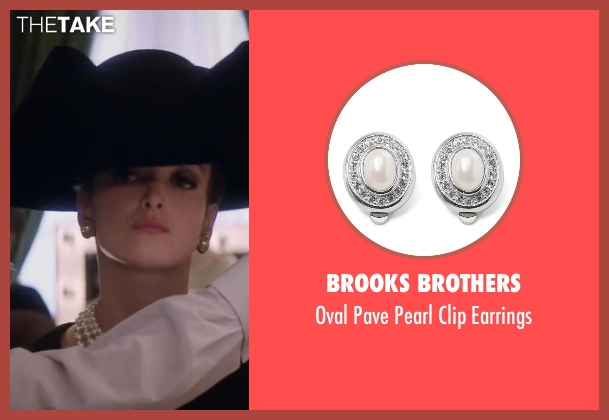Brooks Brothers earrings from Yves Saint Laurent seen with Charlotte Le Bon (Victoire Doutreleau)