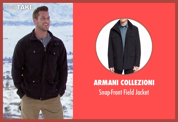 Armani Collezioni black jacket from The Bachelorette seen with Chase