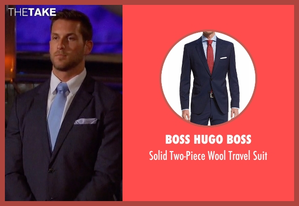 Boss Hugo Boss blue suit from The Bachelorette seen with Chase