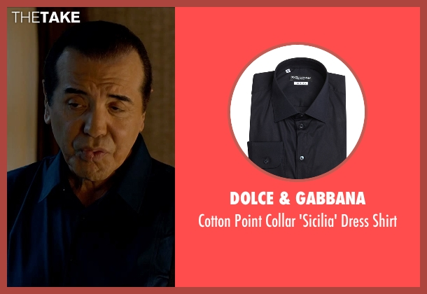 Dolce & Gabbana blue shirt from Legend seen with Chazz Palminteri (Angelo Bruno)