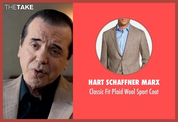 Hart Schaffner Marx brown coat from Legend seen with Chazz Palminteri (Angelo Bruno)