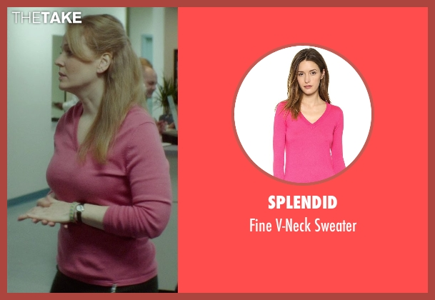 Splendid pink sweater from If I Stay seen with Chelah Horsdal (Liddy)