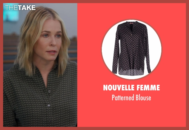 Nouvelle Femme black blouse from Chelsea seen with Chelsea Handler