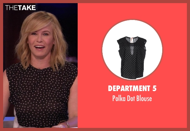 Department 5 black blouse from Chelsea seen with Chelsea Handler