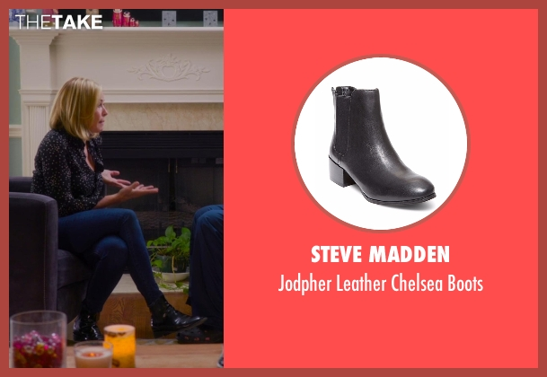 Steve Madden black boots from Chelsea seen with Chelsea Handler