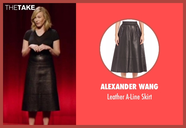 Alexander Wang black skirt from Chelsea seen with Chelsea Handler