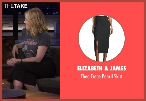 Elizabeth & James black skirt from Chelsea seen with Chelsea Handler