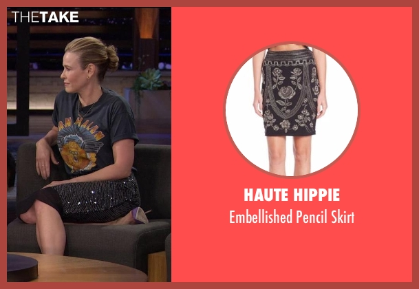 Haute Hippie black skirt from Chelsea seen with Chelsea Handler