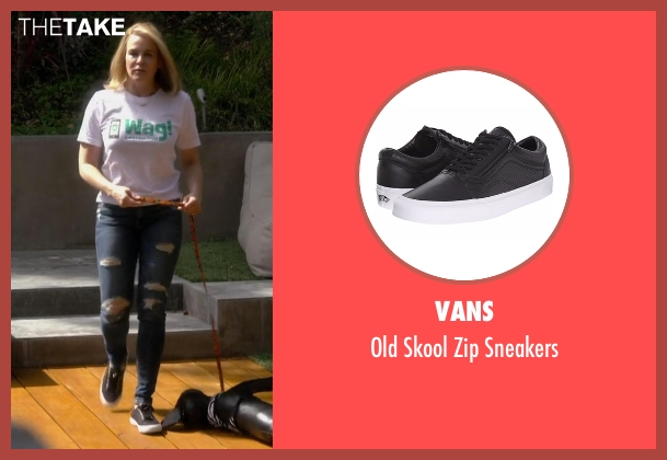 Vans black sneakers from Chelsea seen with Chelsea Handler