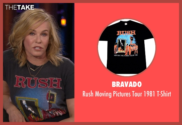 Bravado black t-shirt from Chelsea seen with Chelsea Handler