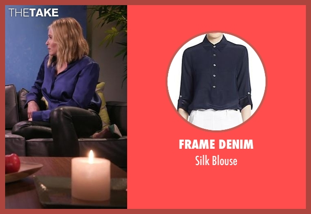 Frame Denim blue blouse from Chelsea seen with Chelsea Handler