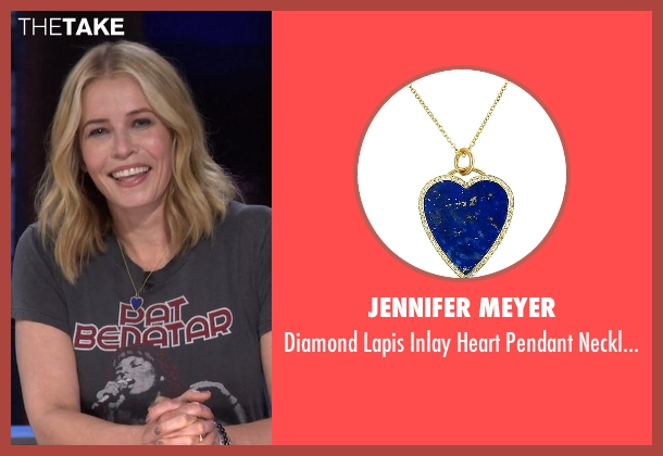Jennifer Meyer blue necklace from Chelsea seen with Chelsea Handler