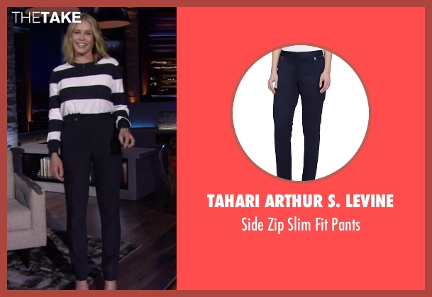 Tahari Arthur S. Levine blue pants from Chelsea seen with Chelsea Handler