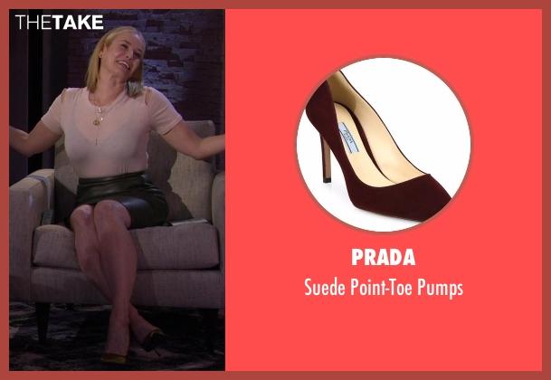 Prada brown pumps from Chelsea seen with Chelsea Handler