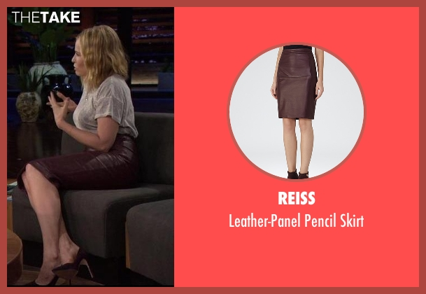 Reiss brown skirt from Chelsea seen with Chelsea Handler