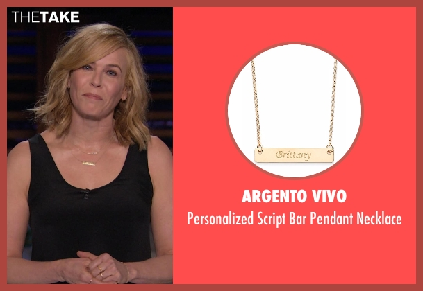 Argento Vivo gold necklace from Chelsea seen with Chelsea Handler