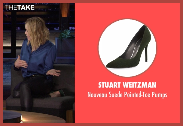 Stuart Weitzman  green pumps from Chelsea seen with Chelsea Handler
