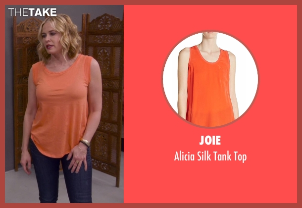 Joie orange top from Chelsea seen with Chelsea Handler