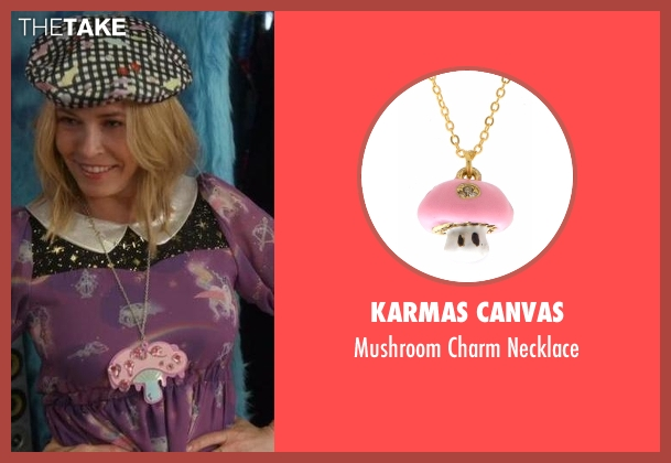 Karmas Canvas pink necklace from Chelsea seen with Chelsea Handler