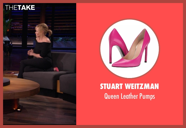 Stuart Weitzman pink pumps from Chelsea seen with Chelsea Handler