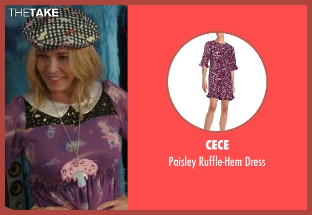 Cece purple dress from Chelsea seen with Chelsea Handler