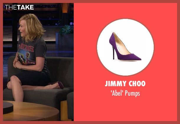 Jimmy Choo purple pumps from Chelsea seen with Chelsea Handler