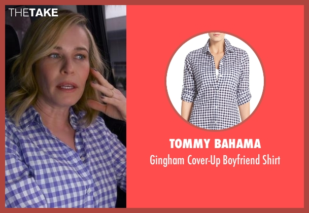 Tommy Bahama purple shirt from Chelsea seen with Chelsea Handler