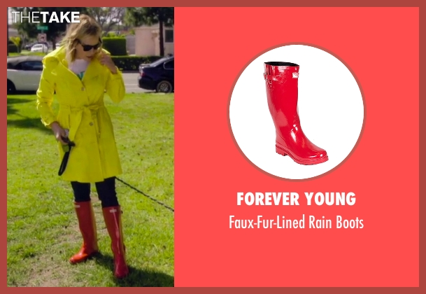 Forever Young red boots from Chelsea seen with Chelsea Handler