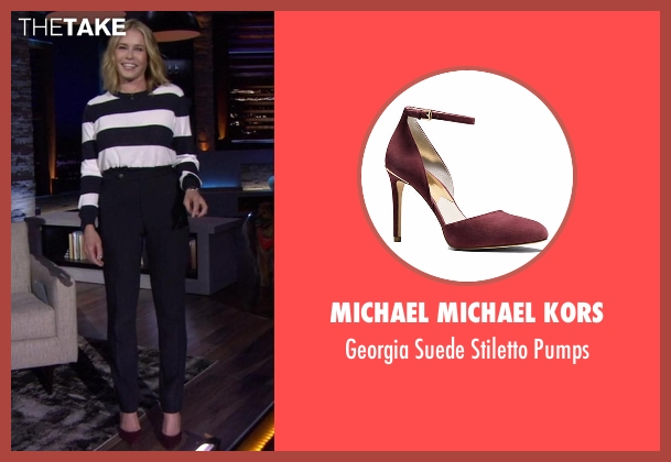 Michael Michael Kors red pumps from Chelsea seen with Chelsea Handler